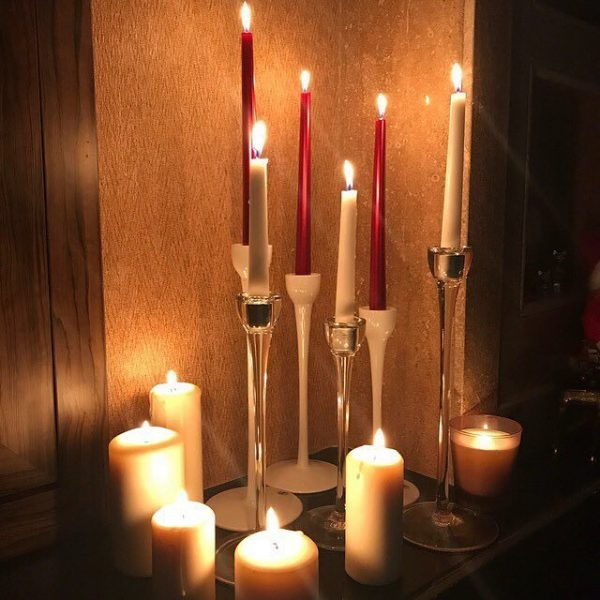 شمع قلمی آلبالویی ایمپریال