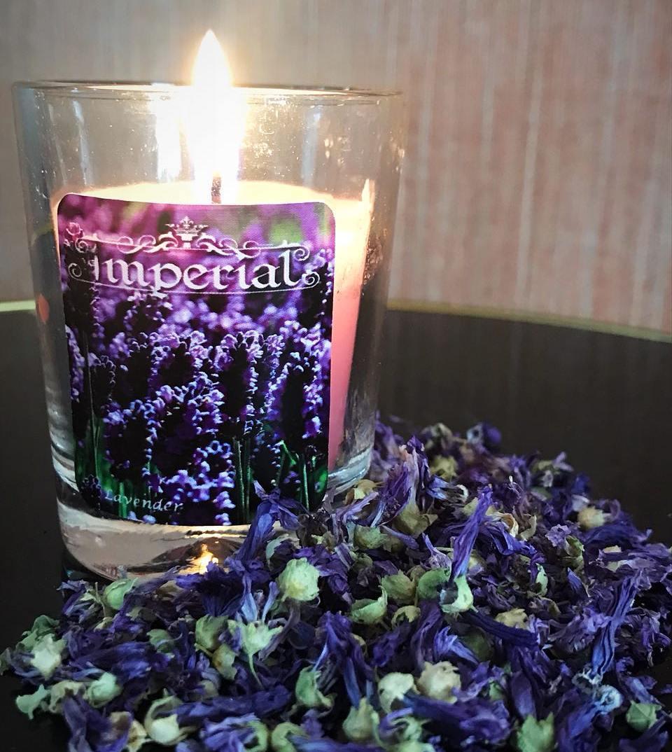 شمع گل لوندر