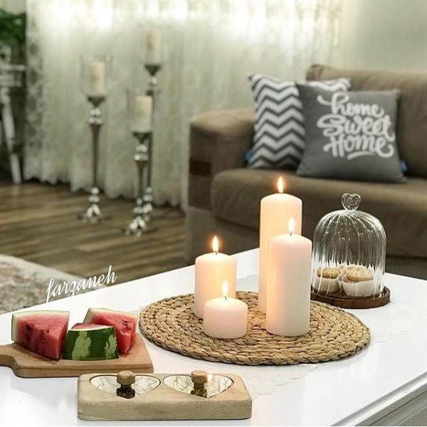 شمع استوانه ای کلاسیک ایمپریال سفید