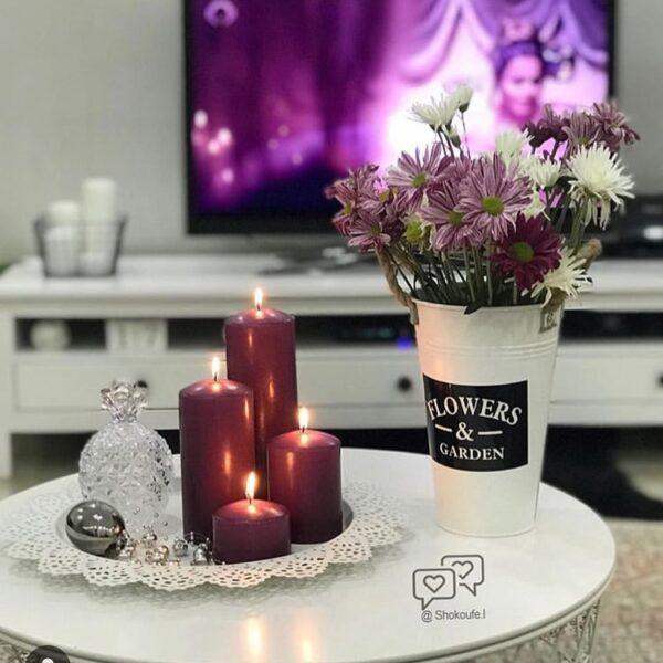 شمع استوانه ای کلاسیک ایمپریال بنفش